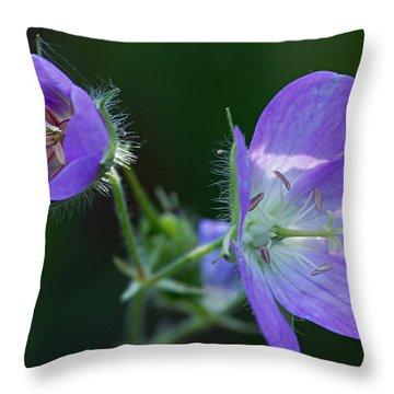 Wild Geraniums Throw Pillow