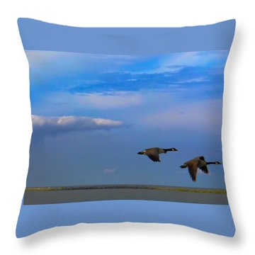 Wild Goose Chase Throw Pillow