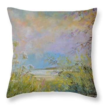 Wild Grasses Of Saugatuck Throw Pillow