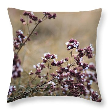 Wild Herbs  #herbs Throw Pillow
