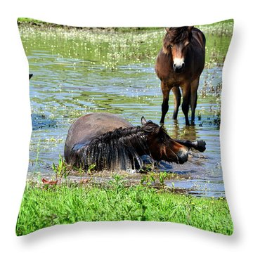Wild Horses 3 Throw Pillow