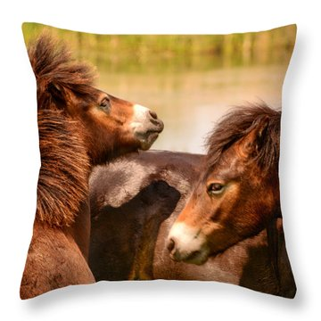 Wild Horses 5 Throw Pillow