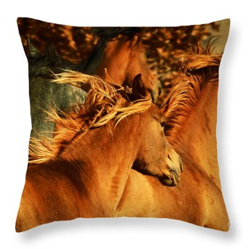 Wild Horses Throw Pillow