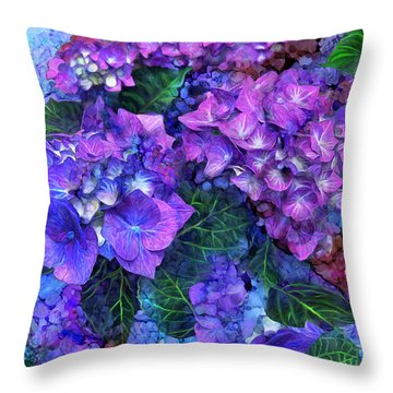 Wild Hydrangeas Throw Pillow