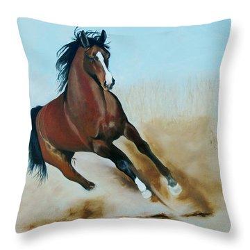 Wild Throw Pillow by Jean Yves Crispo