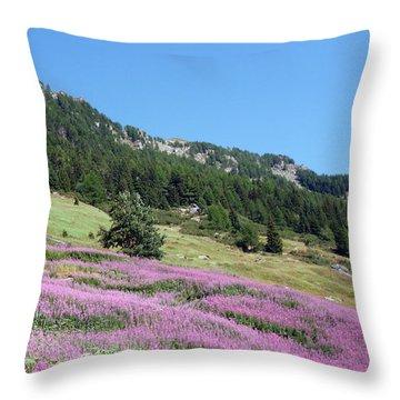 Wild Lavender Throw Pillow