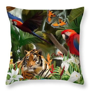 Throw Pillow featuring the digital art Wild by Mark Taylor