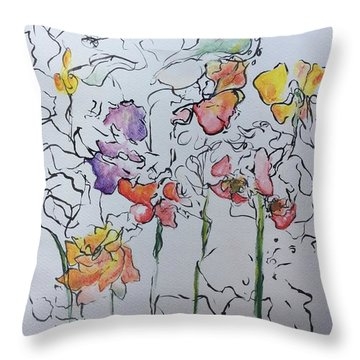 Wild Menagerie  Throw Pillow by Gail Butters Cohen