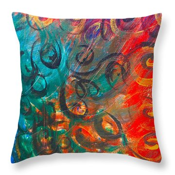 Wild Movement  Throw Pillow