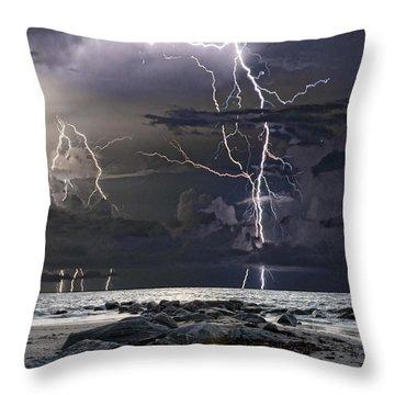 Wild Night Throw Pillow