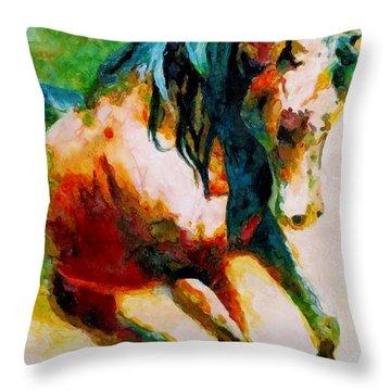 Wild No. 6 Throw Pillow