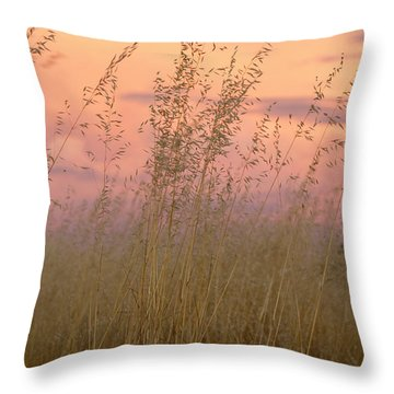 Throw Pillow featuring the photograph Wild Oats by Linda Lees
