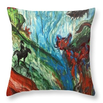 Wild Periscope Collaboration Throw Pillow