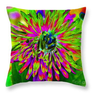 Wild Petals Throw Pillow
