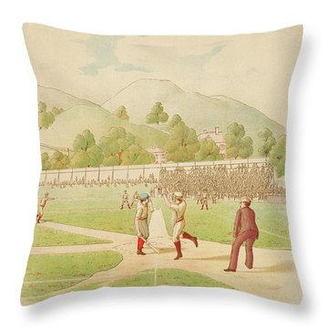 Wild Pitch Our National Game Series 1887 Throw Pillow