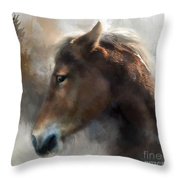 Wild Pony Throw Pillow