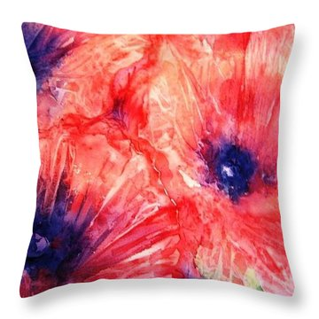 Throw Pillow featuring the painting Wild Poppies by Trudi Doyle