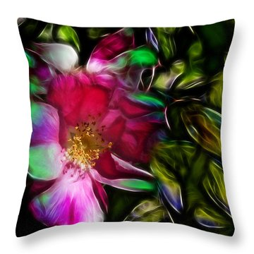 Wild Rose - Colors Throw Pillow by Stuart Turnbull