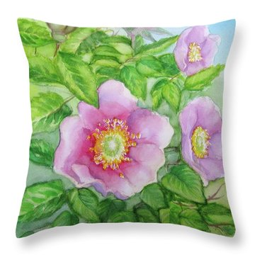 Wild Rose 3 Throw Pillow