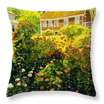 Wild Rose Country Throw Pillow