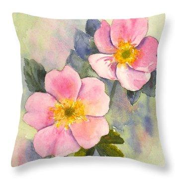 Wild Roses - Glacier Throw Pillow