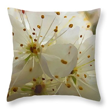 Wild Sand Plum  Throw Pillow