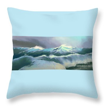 Wild Sea Throw Pillow by Corey Ford