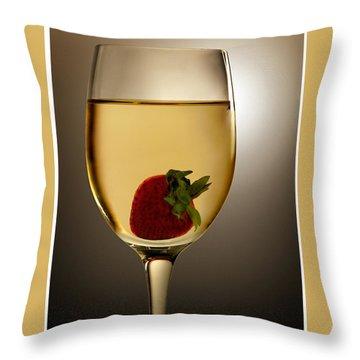 Throw Pillow featuring the photograph Wild Strawberry by Joe Bonita