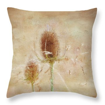 Wild Teasel Throw Pillow