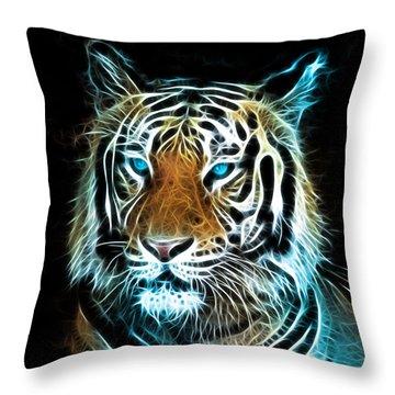 Throw Pillow featuring the digital art Wild Thang by Karen Showell