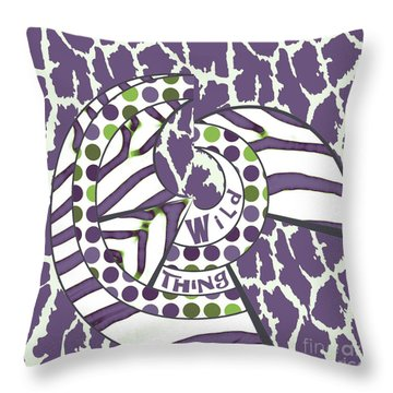 Throw Pillow featuring the digital art Wild Thing by Methune Hively