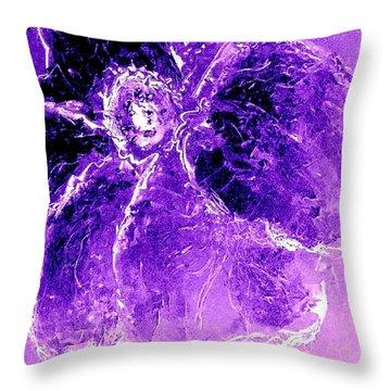 Wild Thing Purple Throw Pillow