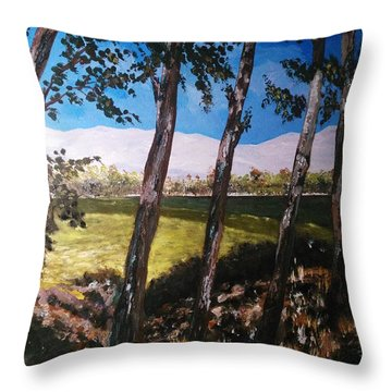 Throw Pillow featuring the painting Wild Trees by Ray Khalife