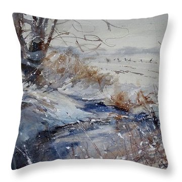 Wild Turkey In The Storm Throw Pillow
