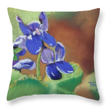 Wild Violets Throw Pillow by Tracy L Teeter