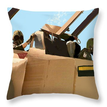 Wild Weasels Throw Pillow by Walter Chamberlain