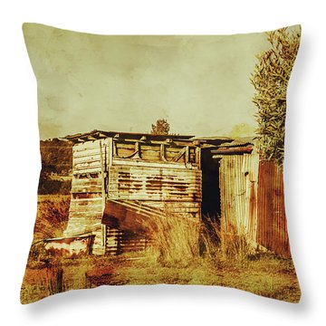 Wild West Australian Barn Throw Pillow