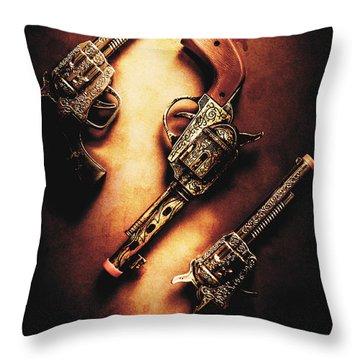 Wild West Cap Guns Throw Pillow