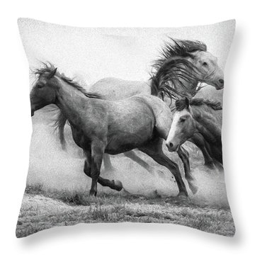 Throw Pillow featuring the photograph Wild West by Kelly Marquardt