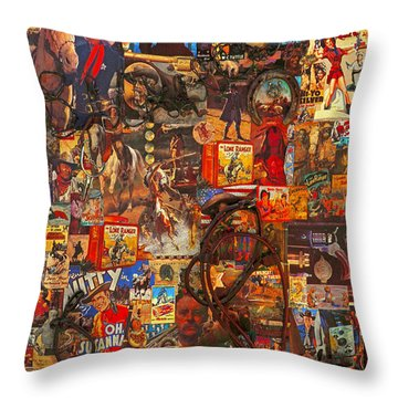 Wild West Poster Throw Pillow