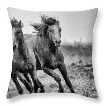 Wild West Wild Horses Throw Pillow