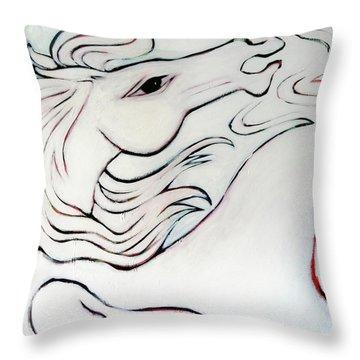 Wild White Throw Pillow