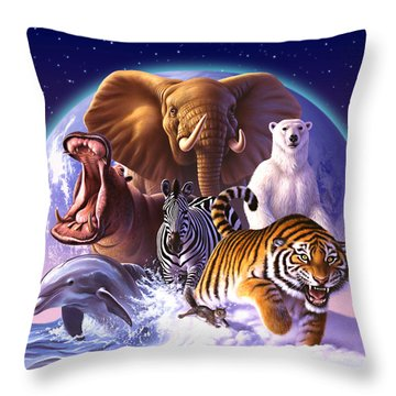 Wild World Throw Pillow by Jerry LoFaro