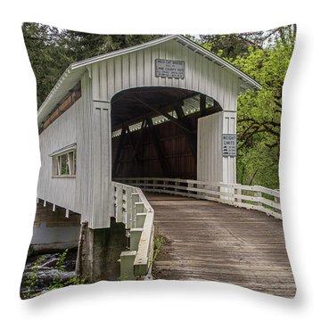 Wildcat Creek Bridge No. 1 Throw Pillow