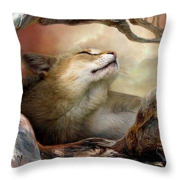 Wildcat Sunrise Throw Pillow by Carol Cavalaris