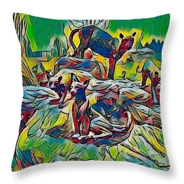 Wildcats Throw Pillow