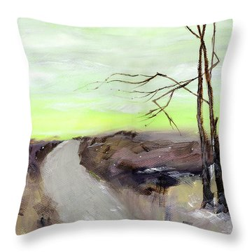Throw Pillow featuring the painting Wilderness 2 by Anil Nene
