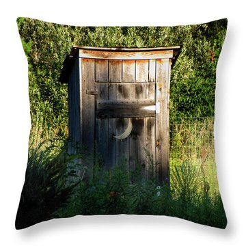 Wilderness Bathroom Throw Pillow