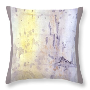 Wilderness Calligraphy - Aspen Tree Throw Pillow