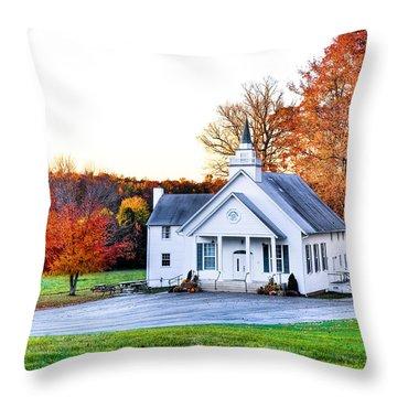 Wilderness Church Throw Pillow